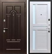 Входная металлическая дверь Армада Эврика 3К СБ-18 стекло белое (Венге / Лиственница беж)