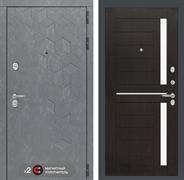 Входная металлическая дверь Лабиринт Бетон 2 (Бетон песочный / Венге)