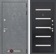Входная металлическая дверь Лабиринт Бетон 1 (Бетон песочный / Венге)