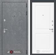 Входная металлическая дверь Лабиринт Бетон 11 (Бетон песочный / Белый софт)