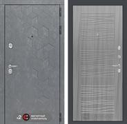 Входная металлическая дверь Лабиринт Бетон 6 (Бетон песочный / Сандал серый)