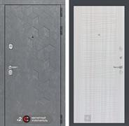 Входная металлическая дверь Лабиринт Бетон 6 (Бетон песочный / Сандал белый)