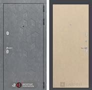 Входная металлическая дверь Лабиринт Бетон 5 (Бетон песочный / Венге светлый)
