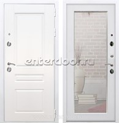 Входная металлическая дверь Армада Премиум Н Зеркало Пастораль (Белый / Ясень белый)