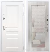 Входная металлическая дверь Армада Премиум Н Зеркало Пастораль (Белый / Сандал белый)