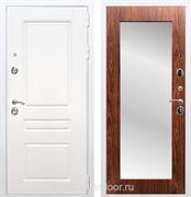 Входная металлическая дверь Армада Премиум Н Зеркало Пастораль (Белый / Берёза морёная)