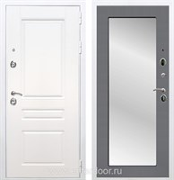 Входная металлическая дверь Армада Премиум Н Зеркало Пастораль (Белый / Графит софт)