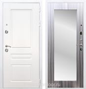 Входная металлическая дверь Армада Премиум Н Зеркало Пастораль (Белый / Сандал серый)