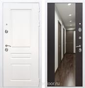 Входная металлическая дверь Армада Премиум Н с Зеркалом СБ-16 (Белый / Венге)