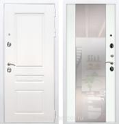 Входная металлическая дверь Армада Премиум Н с Зеркалом СБ-16 (Белый / Ясень белый)