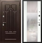 Входная металлическая дверь Армада Эврика 3К с Зеркалом СБ-16 (Венге / Белый ясень)