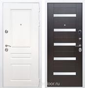 Входная металлическая дверь Армада Премиум Н СБ-14 (Белый / Венге) стекло матовое
