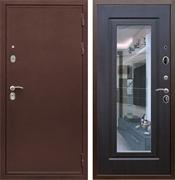Входная металлическая дверь Армада 5А с Зеркалом (Медный антик / Венге)
