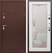 Входная металлическая дверь Армада 5А с зеркалом Пастораль (Медный антик / Ясень белый)