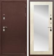 Входная металлическая дверь Армада 5А с зеркалом Пастораль (Медный антик / Лиственница беж)