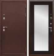 Входная металлическая дверь Армада 5А с зеркалом Пастораль (Медный антик / Венге)