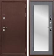 Входная металлическая дверь Армада 5А с зеркалом Пастораль (Медный антик / Графит софт)