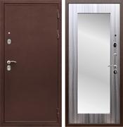 Входная металлическая дверь Армада 5А с зеркалом Пастораль (Медный антик / Сандал серый)
