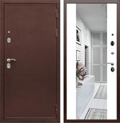 Входная металлическая дверь Армада 5А с зеркалом СБ-16 (Медный антик / Белый матовый)