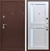 Входная металлическая дверь Армада 5А СБ-18 (Медный антик / Лиственница беж) стекло матовое
