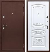 Входная металлическая дверь Армада 5А ФЛ-316 (Медный антик / Белый патина Серебро)