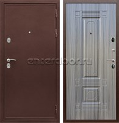 Входная металлическая дверь Армада 5А ФЛ-2 (Медный антик / Сандал серый)