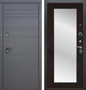 Входная металлическая дверь Армада 14 с Зеркалом Пастораль (Графит софт / Венге)
