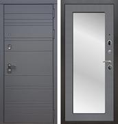 Входная металлическая дверь Армада 14 с Зеркалом Пастораль (Графит софт / Графит софт)