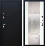 Входная металлическая дверь Армада 5А СБ-16 с Зеркалом (Чёрный муар / Ясень белый)