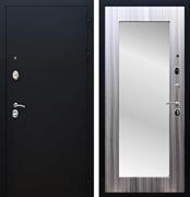 Входная металлическая дверь Армада 5А с Зеркалом Пастораль (Чёрный муар / Сандал серый)
