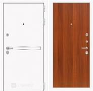 Входная металлическая дверь Лабиринт Line White 5 (Шагрень белая / Итальянский орех)