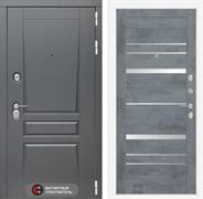 Входная металлическая дверь Лабиринт Платинум 20 (Альберо Грей / Бетон темный)