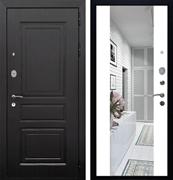 Входная металлическая дверь Армада Лондон СБ-16 с Зеркалом (Венге / Белый матовый)