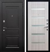 Входная металлическая дверь Армада Лондон СБ-14 (Венге / Сандал белый) стекло матовое