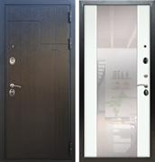 Входная металлическая дверь Армада Премиум 246 с Зеркалом СБ-16 (Венге / Белый ясень)