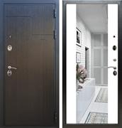 Входная металлическая дверь Армада Премиум 246 с Зеркалом СБ-16 (Венге / Белый матовый)