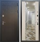 Входная металлическая дверь Армада Премиум 246 с Зеркалом СБ-16 (Венге / Лиственница беж)