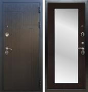 Входная металлическая дверь Армада Премиум 246 с Зеркалом Пастораль (Венге / Венге)