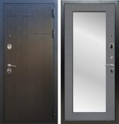 Входная металлическая дверь Армада Премиум 246 с Зеркалом Пастораль (Венге / Графит софт)