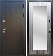 Входная металлическая дверь Армада Премиум 246 с Зеркалом Пастораль (Венге / Сандал серый)