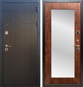 Входная металлическая дверь Армада Премиум 246 с Зеркалом Пастораль (Венге / Берёза морёная)