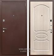 Входная металлическая дверь Армада 2 ФЛ-128 (Антик медь / Дуб белёный)