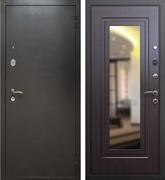 Входная металлическая дверь Армада 2 с зеркалом (Антик серебро / Венге)