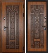 Входная металлическая дверь Сударь Рим (Дуб золотой / Дуб золотой)