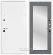 Входная металлическая дверь Армада 5А с зеркалом Пастораль (Белая шагрень / Графит софт)