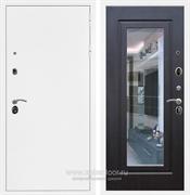 Входная металлическая дверь Армада 5А с зеркалом ФЛЗ-120 (Белая шагрень / Венге)