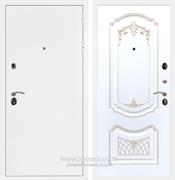 Входная металлическая дверь Армада 5А ФЛ-317 (Белая шагрень / Белый патина Золото)