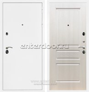 Входная металлическая дверь Армада 5А ФЛ-243 (Белая шагрень / Лиственница беж)