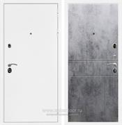 Входная металлическая дверь Армада 5А ФЛ-290 (Белая шагрень / Бетон тёмный)