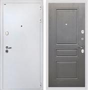 Входная стальная дверь Интекрон Колизей White ФЛ-243 (Белая шагрень / Дуб вуд графит)